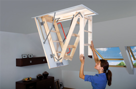Selection of loft ladders
