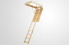 Wooden folding section loft ladder