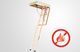 Wooden folding highly insulated loft ladders