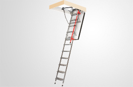 Metal folding section loft ladders