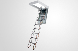 Scissors loft ladders
