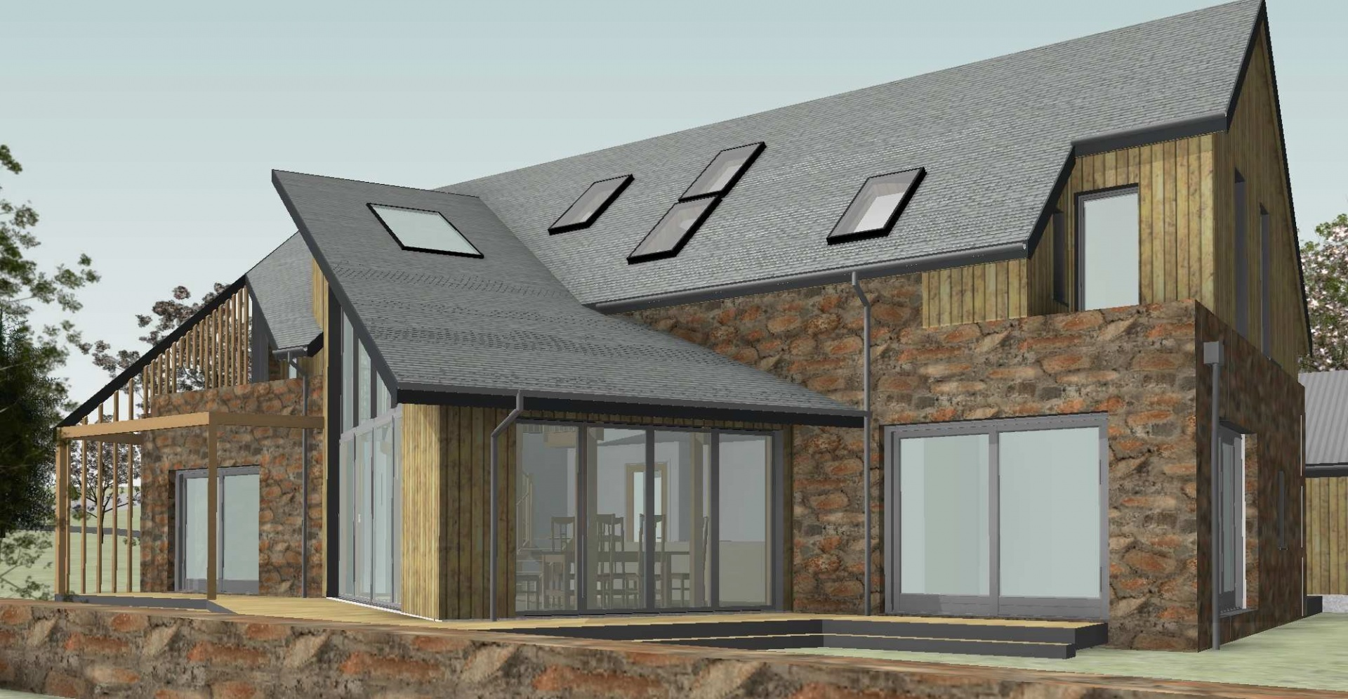 FAKRO roof windows for Aberdeenshire Passivhaus self-build
