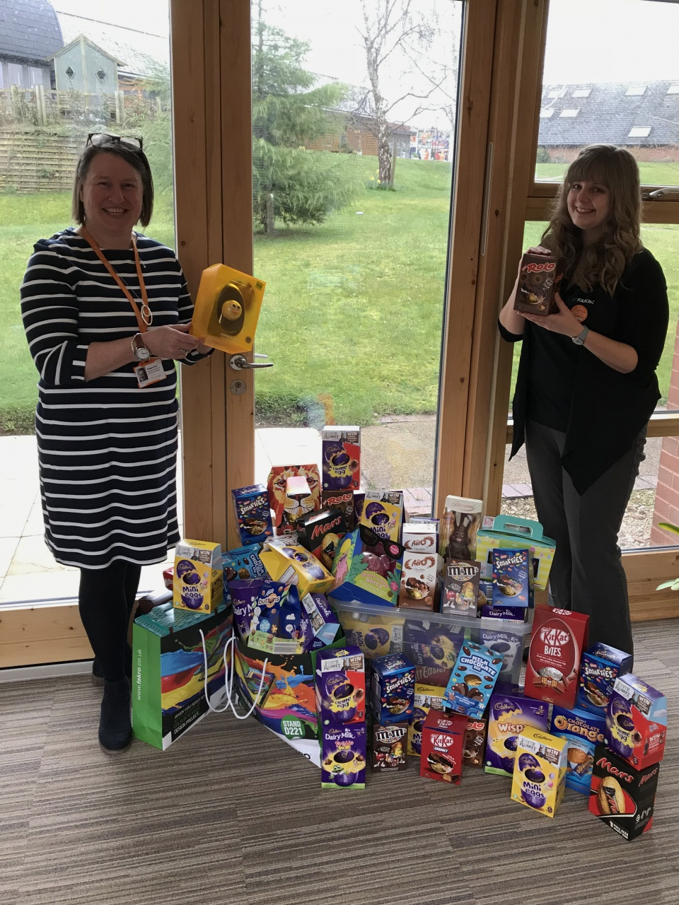 FAKRO Collect an Eggstravagent Amount of Easter Eggs for St Giles Hospice