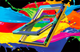 Coloured roof windows