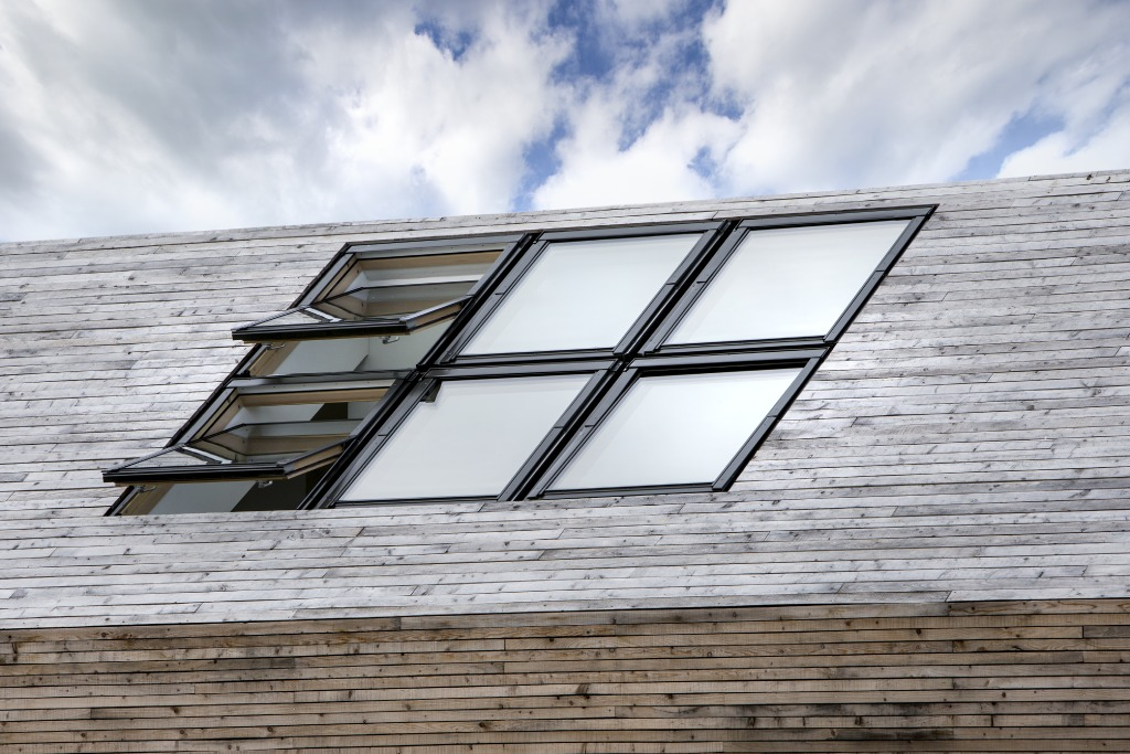 Low roofline installation from FAKRO proves the perfect window option